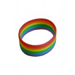 Rainbow Bracelet Silicone wide / Armband breit (T0661)