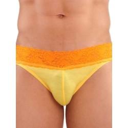 GBGB Kurt Lace Brief Underwear Yellow