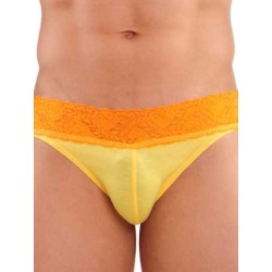 GBGB Kurt Lace Brief Underwear Yellow