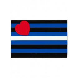 Leather Flag Aufkleber / Sticker 7,6 x 11,5cm / 3 x 4.5 inch (T1046)