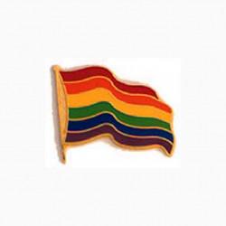 Pin Regenbogen Flagge/ Rainbow Waving Flag