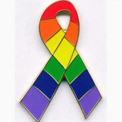 Pin Regenbogen / Rainbow Fancy Ribbon (T1053)