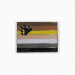 Pin Bear Flag With Screw Back (T1055)