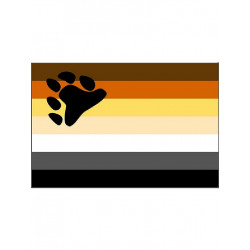 Gay Pride Bear Flag/Flagge 90 x 150 cm