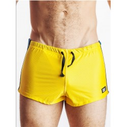 GB2 Jens Athletic Mesh Shorts Yellow/Blue (T2156)