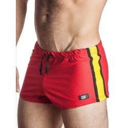 GB2 Jens Athletic Mesh Shorts Red/Yellow
