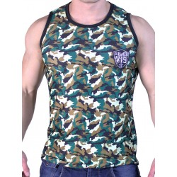 GBGB VI9 Rigis Muscle Tank Top Mesh Fabric Camouflage (T2613)