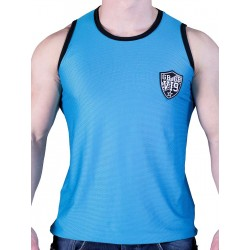 GBGB VI9 Rigis Muscle Tank Top Mesh Fabric Dark Blue (T2611)