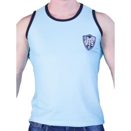 GBGB VI9 Rigis Muscle Tank Top Mesh Fabric Light Blue (T2623)