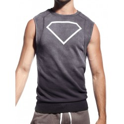 Supawear Diamond Sleeveless Sweater Dark Grey (T2639)