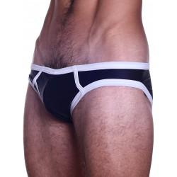 BoXer Y-Front Smoothe Brief Underwear Black/White (T5558)