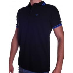 BoXer X-Polo Shirt Black/Blue Stripes (T5566)