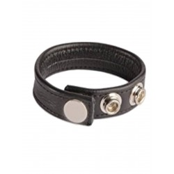 Cock Strap Leather Black w. Snaps (T5653)