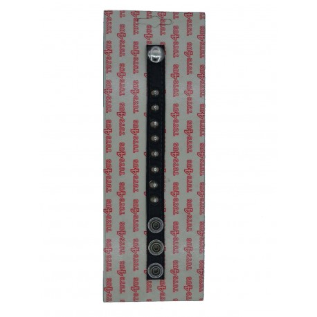 Cock Strap Leather Black w. Nieces and Snaps (T5654)