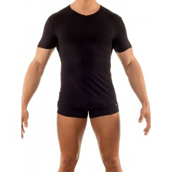 Olaf Benz V-Neck Regular T-Shirt RED1202 Black (T2745)