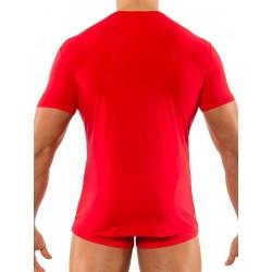 Olaf Benz V-Neck Regular T-Shirt RED1202 Red (T2746)