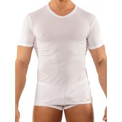 Olaf Benz V-Neck Regular T-Shirt RED1202 White (T2744)