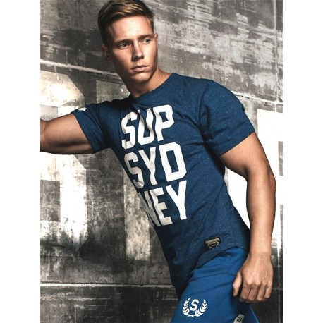 Supawear SUP SYD NEY T-Shirt Navy Marle (T5104)