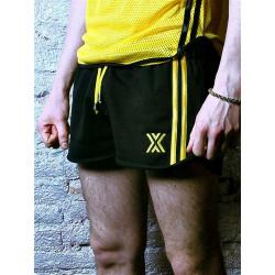 BoXer Felt Gym Miniboxer Shorts Black/Yellow (T5397)