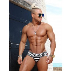 Danny Miami Greek God Dkini Brief Swimwear Multi (with inside gold foil print!) (T5763)