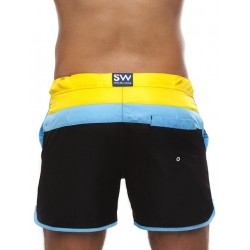 Supawear Just Supa Swim Shorts Swimwear Black/Yellow (T3118)