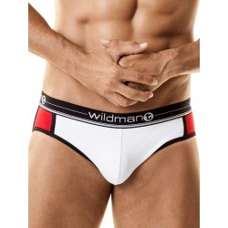 WildmanT Apollo Jock with Cock Ring Underwear White/Red (T3152)