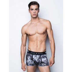 Skull & Bones Tossed Skull Trunk Underwear Black