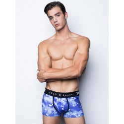 Skull & Bones Tossed Skull Trunk Underwear Blue (T6038)