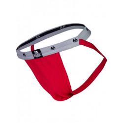 MM The Original Swimmer/Jogger Jockstrap Underwear Scarlet/Grey 1 inch
