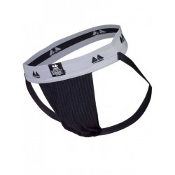 MM The Original Jockstrap Underwear Black/Grey 2 inch