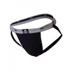 MM The Original Swimmer/Jogger Jockstrap Underwear Black/Grey 1 inch (T6218)