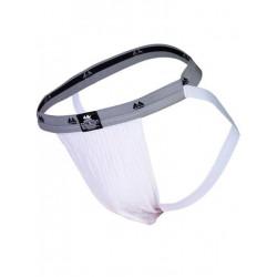 MM The Original Swimmer/Jogger Jockstrap Underwear White/Grey 1 inch