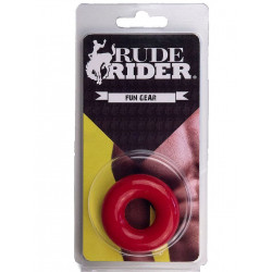 RudeRider Fat Stretchy Cock Ring Red (T6151)
