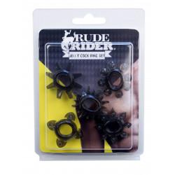 RudeRider Jelly Cock Ring 5-Star-Set (T6266)