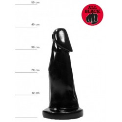 All Black Dildo 29 x 5,5 - 7,4 cm (T6253)