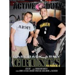 Bareback Army Grunts #4 DVD
