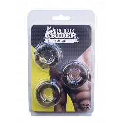 RudeRider Soft Cock Rings Smoke (3-Ring-Set) (T6260)