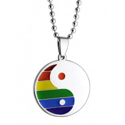 Rainbow Ying-Yang Halskette / Necklace (T6305)