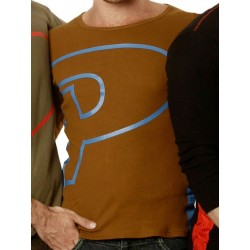 Priape P Long Sleeve T-Shirt Brown (T3277)