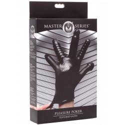Master Series Pleasure Poker Textured Glove Black (T6343)