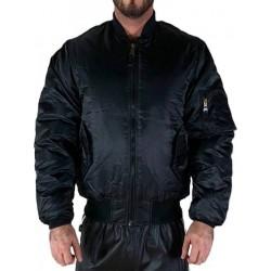 Boxer MA1 Style Bomber Jacket Black (T6439)