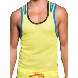 Andrew Christian Fissure Tank Top Neon Yellow