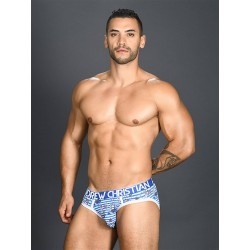 Andrew Christian Sexy Sailor Stripe Brief w/ Almost Naked Underwear