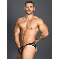 Andrew Christian Jumper Gigolo Mesh Jock w/ Almost Naked Jockstrap Underwear Black (T6505)