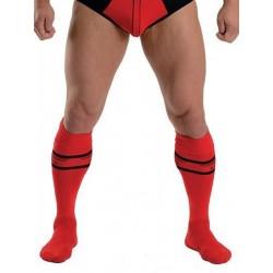 MisterB Urban Football Socks Red (T6962)