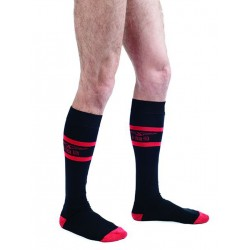 MisterB Code Red Football Socks (T6967)