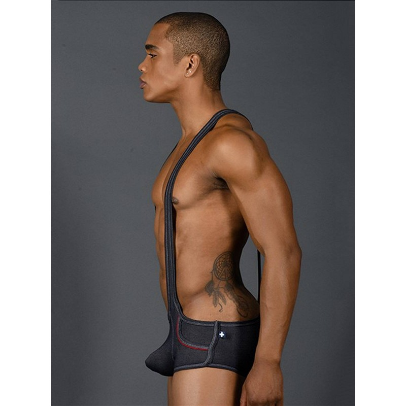 Andrew Christian Denim Pocket Singlet w/ Almost Naked Underwear (T7389)