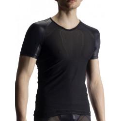 Olaf Benz V-Neck Regular T-Shirt RED1914 Black (T7432)