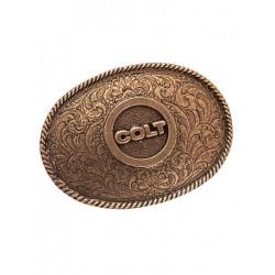 Colt Wagon Wheel Belt Buckle (T3460)