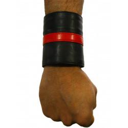 RudeRider Wrist Wallet Leather Black/Red (T7318)